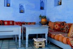 Голубое Chefchaouen стоковые фотографии rf