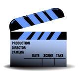 Голубое clapperboard Стоковое Фото