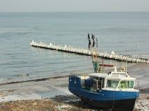 Голубое FishBoat Стоковые Фотографии RF