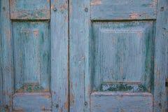 голубое grunge двери Стоковое Изображение RF