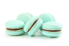 Голубое Macarons Стоковые Фото