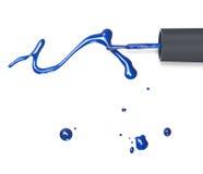 голубое nailpolish Стоковые Фото