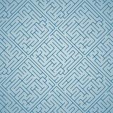 Голубой лабиринт (картина безшовная) Стоковое Фото