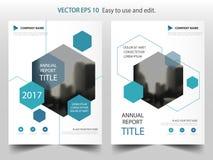 Голубой абстрактный дизайн шаблона рогульки брошюры листовки годового отчета треугольника, дизайн плана обложки книги, бесплатная иллюстрация