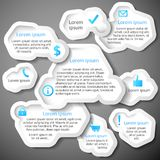Голубой абстрактный пузырь знамени веб-дизайна Стоковые Фото
