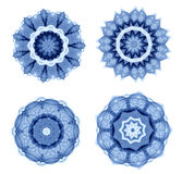 Голубой абстрактный символ Стоковое Изображение RF