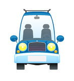 голубой автомобиль ретро Стоковое Изображение
