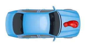 голубой автомобиль Стоковое Изображение RF