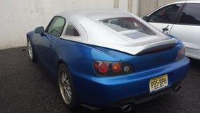 голубой автомобиль Стоковые Изображения RF