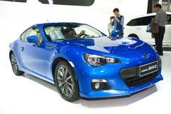 Голубой автомобиль brz subaru стоковые фото