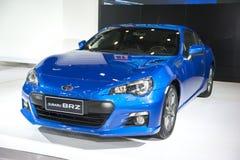Голубой автомобиль brz subaru Стоковые Изображения