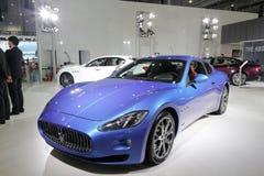 Голубой автомобиль maserati Стоковые Фотографии RF