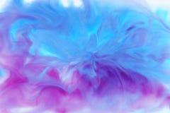 Голубой акварели абстрактный, розовый и белый цвет Стоковое Изображение