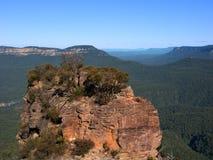 Голубой ландшафт Австралия гор Стоковая Фотография RF