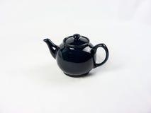 Голубой бак чая на белой предпосылке Стоковое Изображение RF