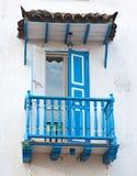 Голубой балкон Стоковая Фотография