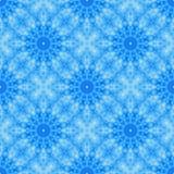 Голубой безшовной плитка основанная фракталью с круговым дизайном цветка или мандалы Стоковые Изображения RF