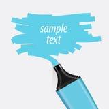 Голубой вектор highlighter бесплатная иллюстрация
