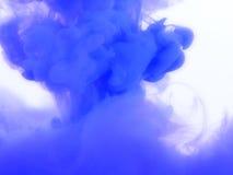 Голубой выплеск чернил Стоковая Фотография