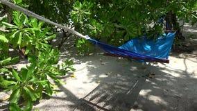 Голубой гамак сток-видео
