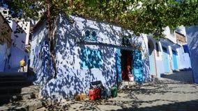 Голубой город в Марокко - Chefchaouen Стоковая Фотография RF