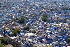 Голубой город Джодхпура в Индии Стоковое Изображение RF