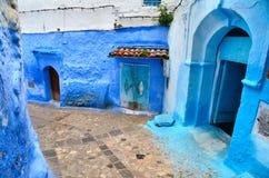 Голубой городок Chefchaouen Стоковая Фотография