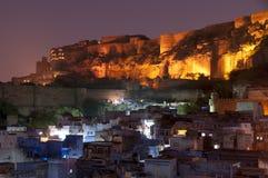 Голубой город форта Джодхпура и Mehrangarh, Индии Стоковая Фотография RF