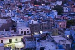 Голубой город Джодхпура, Индия Стоковые Фото