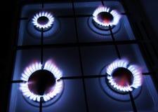 голубой горящий газ пламен естественный Стоковое фото RF
