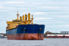 голубой грузовой корабль Стоковое Изображение