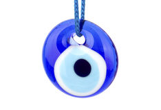 Голубой глаз turkish изолированный на белизне Стоковое Фото