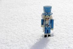 Голубой деревянный Щелкунчик Стоковое Изображение