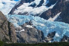 Голубой ледник горы льда Стоковые Изображения