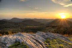 Голубой заход солнца Риджа Стоковое Изображение