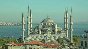 Голубой заход солнца Стамбула мечети Стоковое Изображение