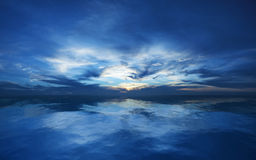 голубой заход солнца Стоковые Изображения RF