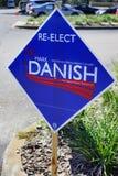 Голубой знак голосования избрания Стоковая Фотография RF