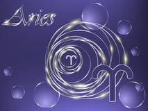 Голубой знак зодиака Стоковая Фотография RF