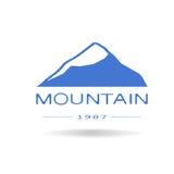 Голубой значок горы иллюстрация вектора