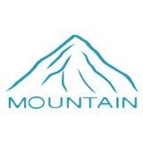 Голубой значок горы бесплатная иллюстрация