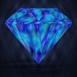Голубой диамант стилизованное морское Кристл иллюстрация вектора