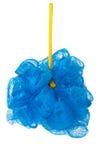 Голубой ливень губки изолированный на белой предпосылке Стоковые Изображения