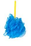 Голубой ливень губки изолированный на белой предпосылке Стоковые Изображения RF