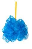 Голубой ливень губки изолированный на белой предпосылке Стоковое Фото