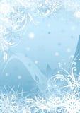 Голубой дизайн предпосылки снежинки Стоковая Фотография