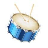 Голубой изолированный барабанчик Стоковые Изображения RF