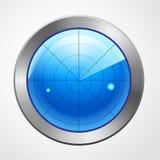 Голубой изолированный дисплей радиолокатора Стоковые Фото