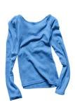 Голубой изолированный пуловер Стоковые Фотографии RF