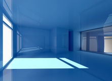 Голубой интерьер иллюстрация штока